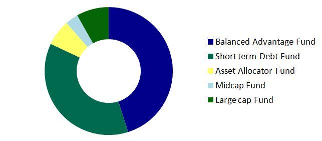 all wealth portfolio pie chart